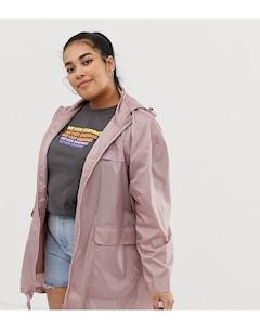 Куртка дождевик ASOS DESIGN Curve Розовый Asos curve