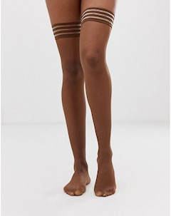 Матовые чулки темного телесного оттенка плотностью 10 ден Бежевый Nubian skin