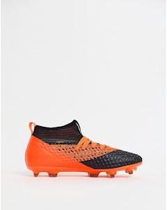 Оранжевые футбольные бутсы Future 2 2 Netfit Firm Ground 104830 02 Черный Puma