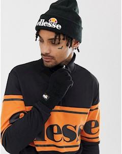 Черная шапка бини и перчатки Черный Ellesse