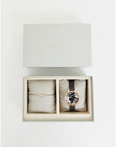 Часы и браслет с пчелой 3D Черный Olivia burton