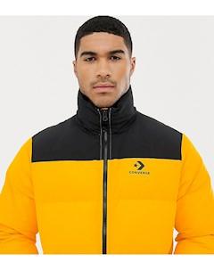 Желтая дутая куртка 10009065 A01 Желтый Converse