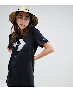 Черное платье футболка Черный Converse