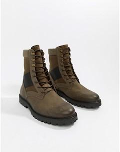 Ботинки в стиле милитари цвета хаки Zign