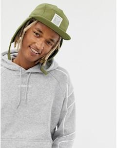 Шапка ушанка цвета хаки Зеленый Adidas originals