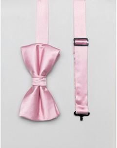 Галстук бабочка и булавка на лацкан пиджака Розовый Ben sherman