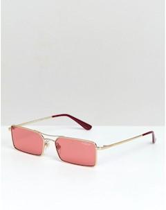 Солнцезащитные очки в узкой прямоугольной оправе Vogue x Gigi Розовый