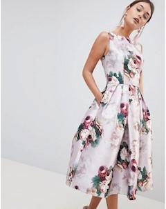 Платье миди с цветочным принтом Chi chi london