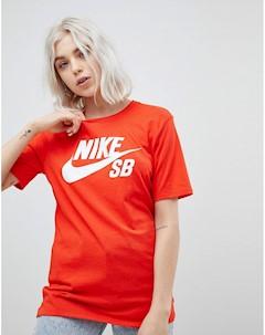 Красная футболка с логотипом Nike sb