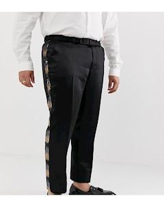 Серые брюки скинни с золотистыми пайетками Plus Золотой Asos edition