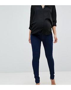 Джеггинсы для беременных со съемной вставкой для живота Maternity Синий Bandia
