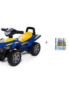 Каталка Super ATV 551G и Мыльные пузыри 1toy Мы шарики дубинка 29 см 190 мл Baby care