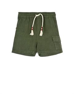 Бермуды цвета хаки с накладным карманом детские Saint barth