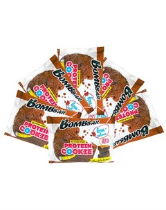 Печенье протеиновое Шоколадный брауни 6х40 г Bombbar