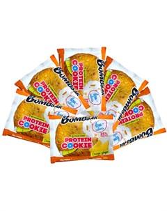 Печенье протеиновое Апельсин и имбирь 6х40 г Bombbar