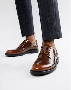 Коричневые блестящие туфли на шнуровке Zign