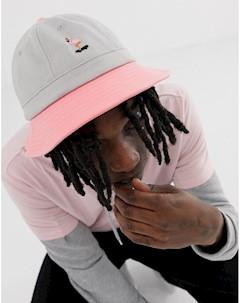 Серо розовая панама RIPNDIP Белый Rip n dip