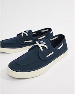 Темно синие мокасины кроссовки Topsider Темно синий Sperry