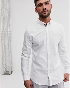 Белая облегающая оксфордская рубашка River island