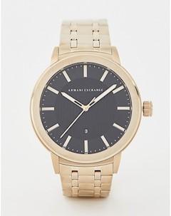 Подарочный набор часы и браслет AX7108 Золотой Armani exchange