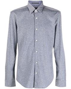 Жаккардовая рубашка в горох Boss hugo boss