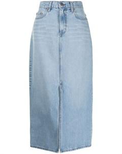 Джинсовая юбка Avery с разрезом спереди Nobody denim