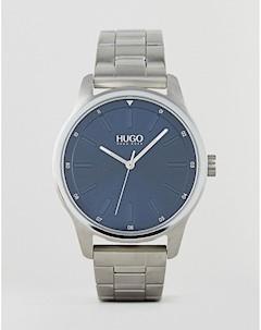 Серебристые часы браслет 1530020 Dare Серебряный Hugo
