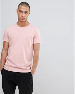 Эластичная розовая футболка с круглым вырезом Lindbergh