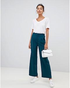 Широкие брюки Зеленый Suncoo