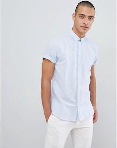 Синяя рубашка с короткими рукавами Lindbergh