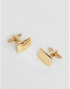Квадратные золотистые запонки Золотой Asos design
