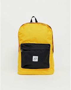 Рюкзак колор блок с логотипом Желтый Jack & jones