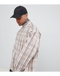 Oversize рубашка в клетку Светло бежевый Add