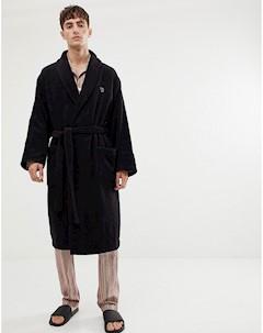 Черный халат с логотипом Черный Ps paul smith