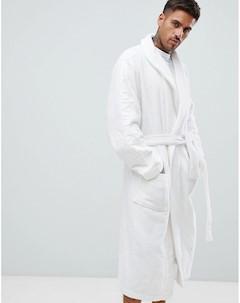 Махровый халат с логотипом Белый Calvin klein
