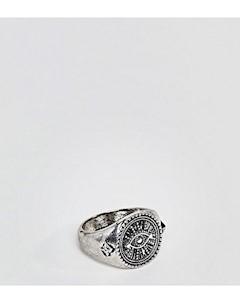 Кольцо печатка inspired эксклюзивно для ASOS Серебряный Reclaimed vintage