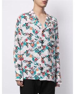 Рубашка на пуговицах с цветочным принтом Sulvam