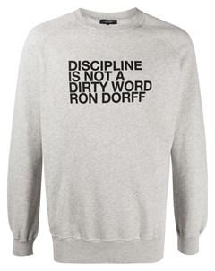 Толстовка с круглым вырезом и надписью Ron dorff