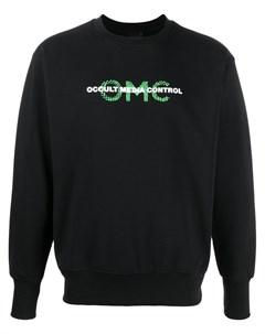 Свитер с круглым вырезом и логотипом Omc