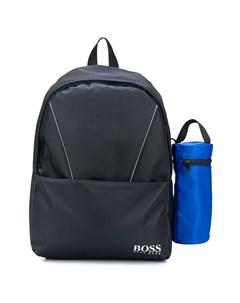 Рюкзак с логотипом и контрастной отделкой Boss kidswear