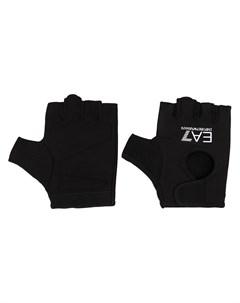 Перчатки митенки с логотипом Ea7 emporio armani