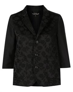 Приталенный пиджак с цветочным узором Comme des garçons tricot