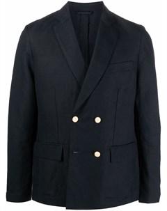 Фактурный двубортный пиджак Emporio armani