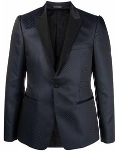 Пиджак с контрастным воротником Emporio armani