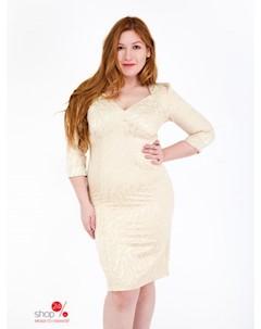 Платье цвет бежевый Ghazel
