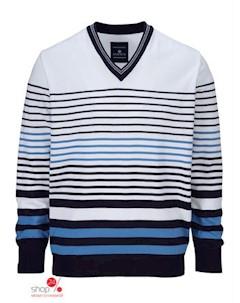 Пуловер Babista цвет белый синий полоска Klingel