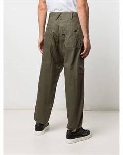 Прямые брюки с нашивкой логотипом Engineered garments