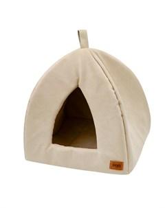Дом для кошек вигвам Classic иск замша 2 46 46 42 см кремовый 76582 Zooexpress