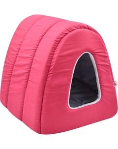 Дом для кошек туннель поплин плюш 1 34 40 34 см бордо 766211 Zooexpress