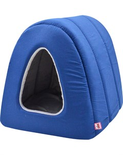 Дом для кошек туннель поплин плюш 1 34 40 34 см темно синий 766212 Zooexpress